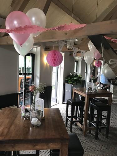Tafeldecoratie 3ballonnen Brasserie Schinkelshoek Vlaardingen