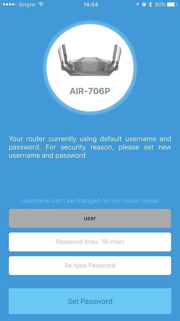 AIR-706P - iOS App - Setup #1