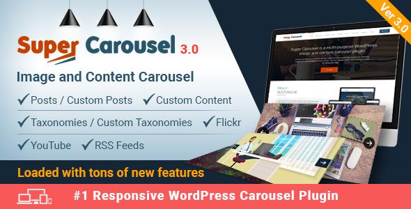Super Carousel v3.0 – Responsive WordPress Plugin