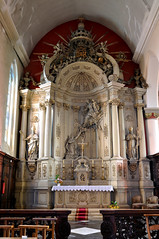 Hondschoote, Nord, Flandres, église Saint-Vaast, altar of the rosary