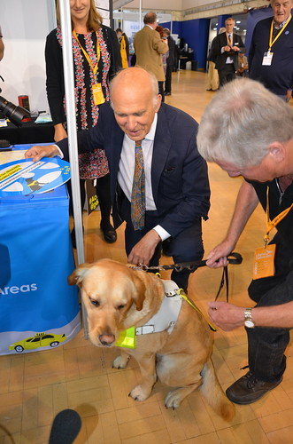 Vince Cable and guide dog Sept 17 (1)