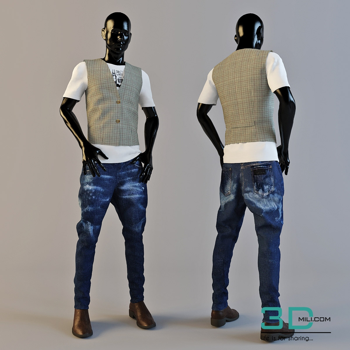 Mannequin 3ds max model free download