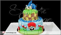 Bolo Decorado – Sonic e Mario Bros