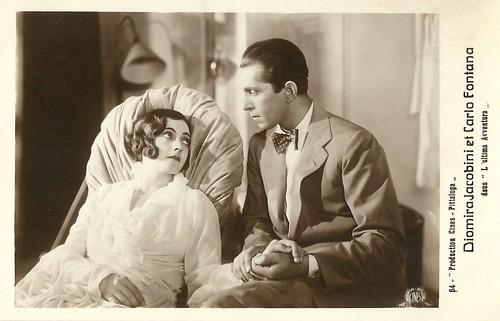 Diomira Jacobini and Carlo Fontana in L'ultima avventura (1932)