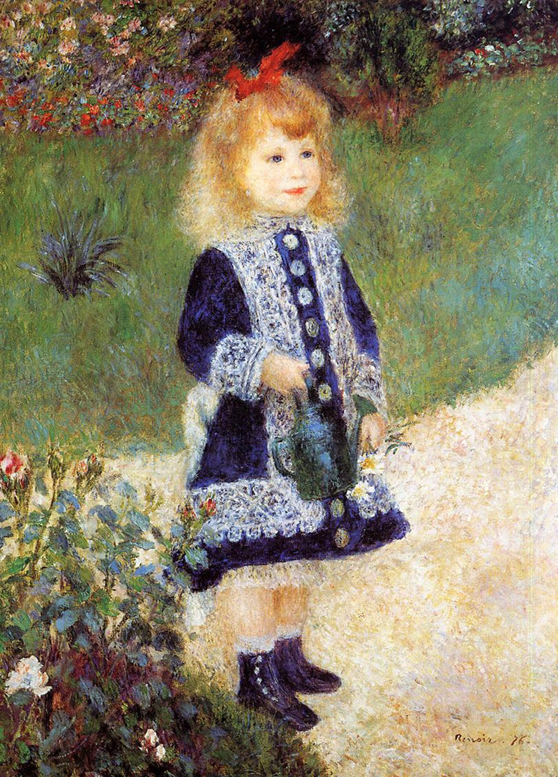 Girl with a Watering Can by Pierre Auguste Renoir, 1876
