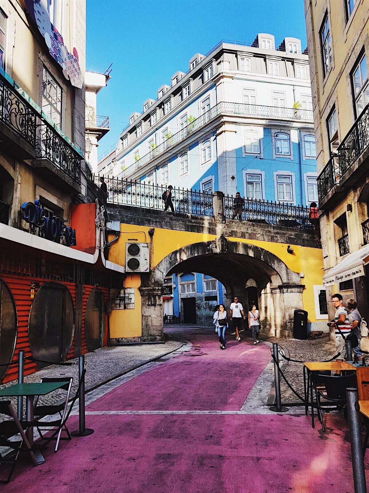 Lisbon pink road