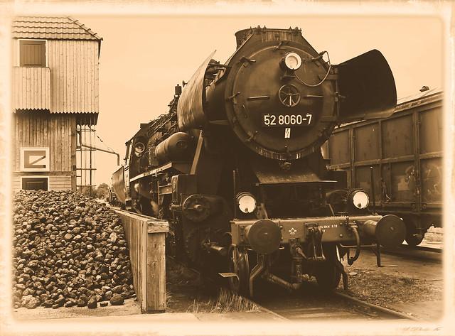 Filling-up steam locomotive