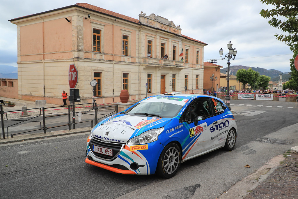 34  BEDORET Sebastien (BEL) WALBRECQ Thomas (BEL) Peugeot 208 R2 action during the 2017 European Rally Championship ERC Rally di Roma Capitale,  from september 15 to 17 , at Fiuggi, Italia - Photo Jorge Cunha / DPPI