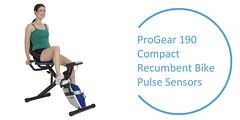 Best Recumbent Exercise Bike : ProGear-190-Compact-Recumbent-Bike-with-Heart-Pulse-Sensors