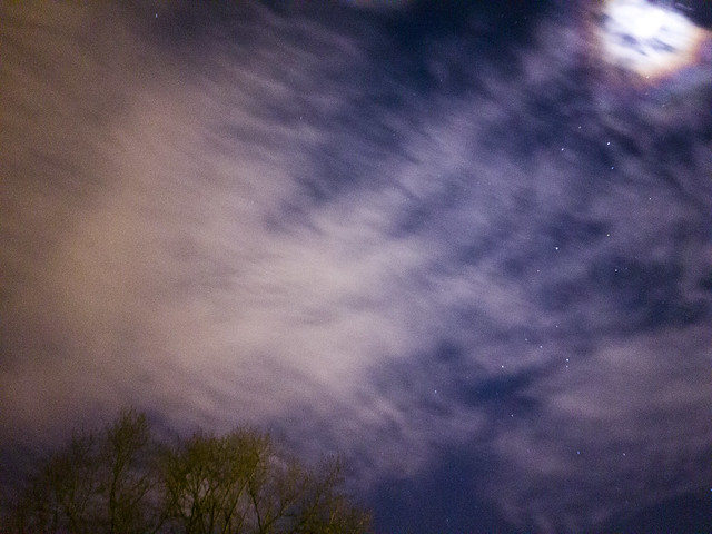 Night Sky Stars Moon and Tree - Samsung Galaxy Note 8 photo example
