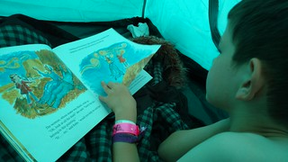 Belladrum 2017 - library book in the tent
