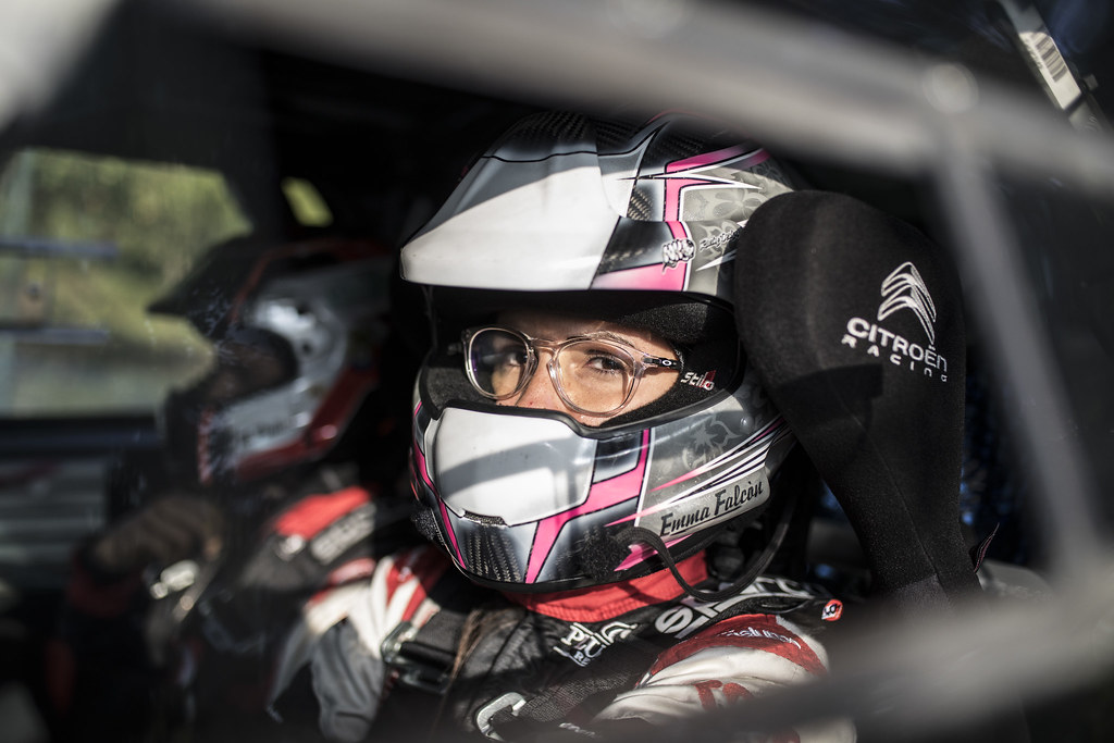 FALCON Emma (ESP) PENATE Rogelio (ESP) Citroen DS3 R3T ambiance portrait during the 2017 European Rally Championship ERC Barum rally,  from August 25 to 27, at Zlin, Czech Republic - Photo Gregory Lenormand / DPPI