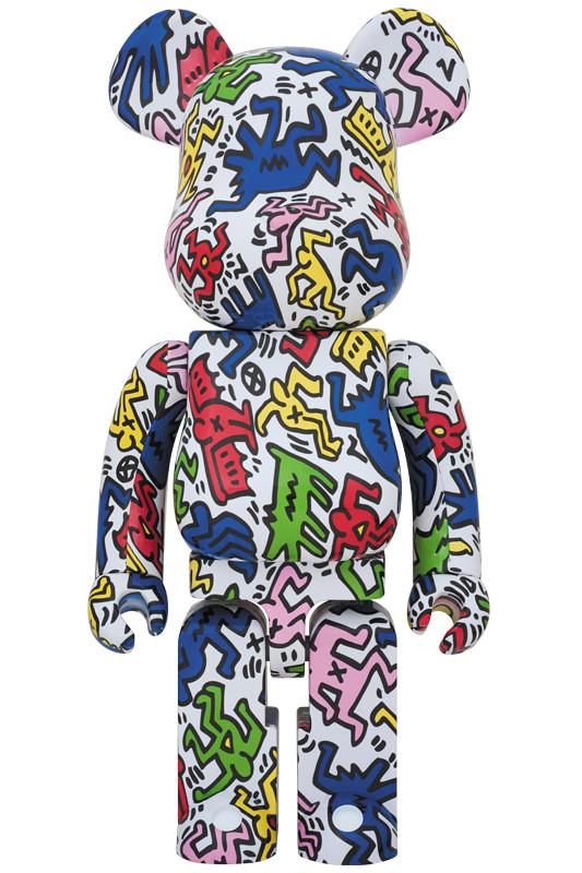 """20世紀最偉大的塗鴉天才""""凱斯·哈林""""經典傑作!BE@RBRICK KEITH HARING 1000% 與100% & 400%套裝組"""