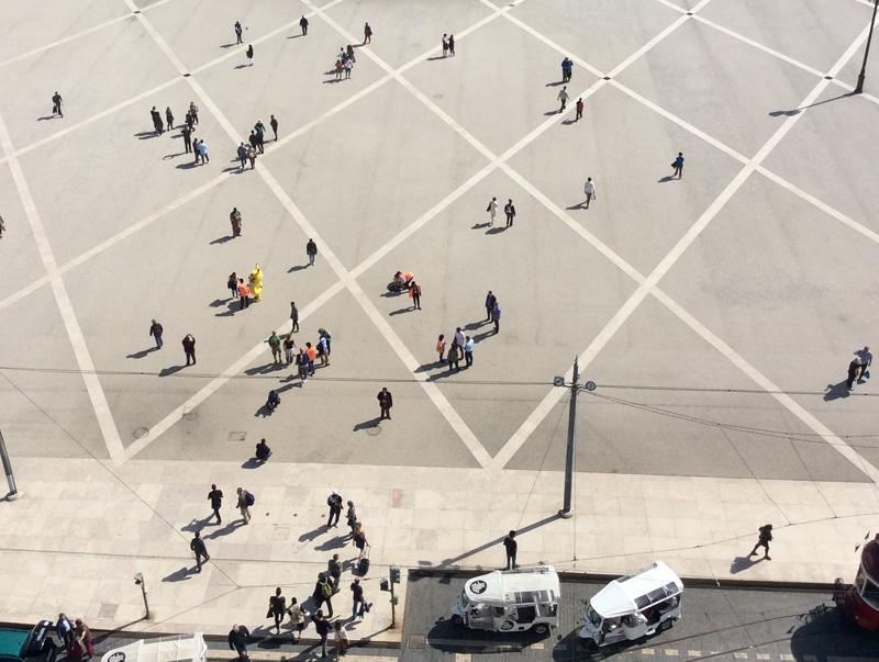 Lisboa, Terreiro do Paço, downunder