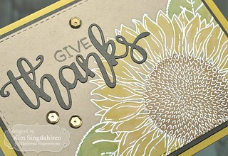 Taylored Expressions Big Blooms Sunflower