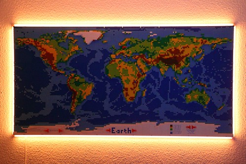 dirks LEGO world map 5 lighted