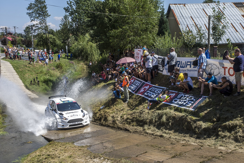 09 MOFFETT Josh (IRL) FULTON James (IRL) Ford Fiesta R5 action during the 2017 European Rally Championship Rally Rzeszowski in Poland from August 4 to 6 - Photo Gregory Lenormand / DPPI