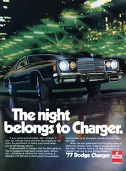 1977 Dodge Charger Advertisement Hot Rod November 1976