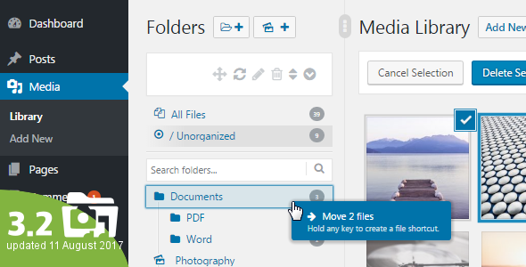 WordPress Real Media Library v3.2.1 – Media Categories / Folders File Manager