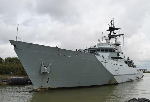 HMS Mersey P283 (14) @ Gallions Reach 08-09-17