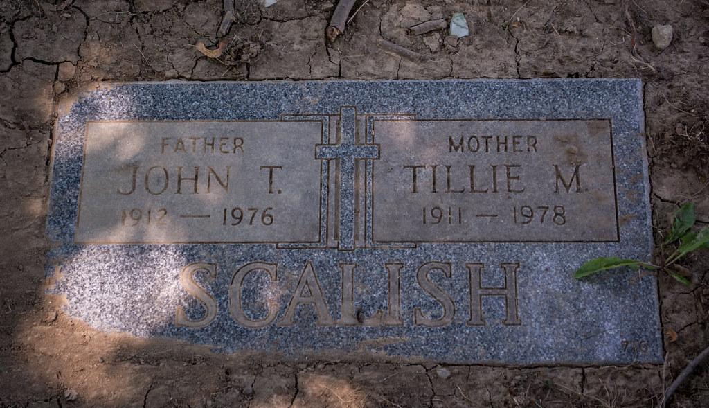 John Scalish headstone - Calvary Cemetery
