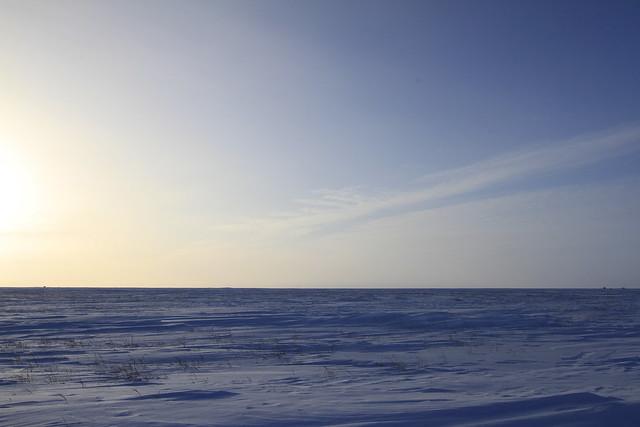 Winter arctic landscape
