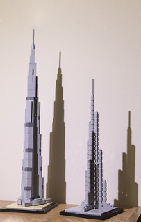 Both Burj Khalifa Lego Models