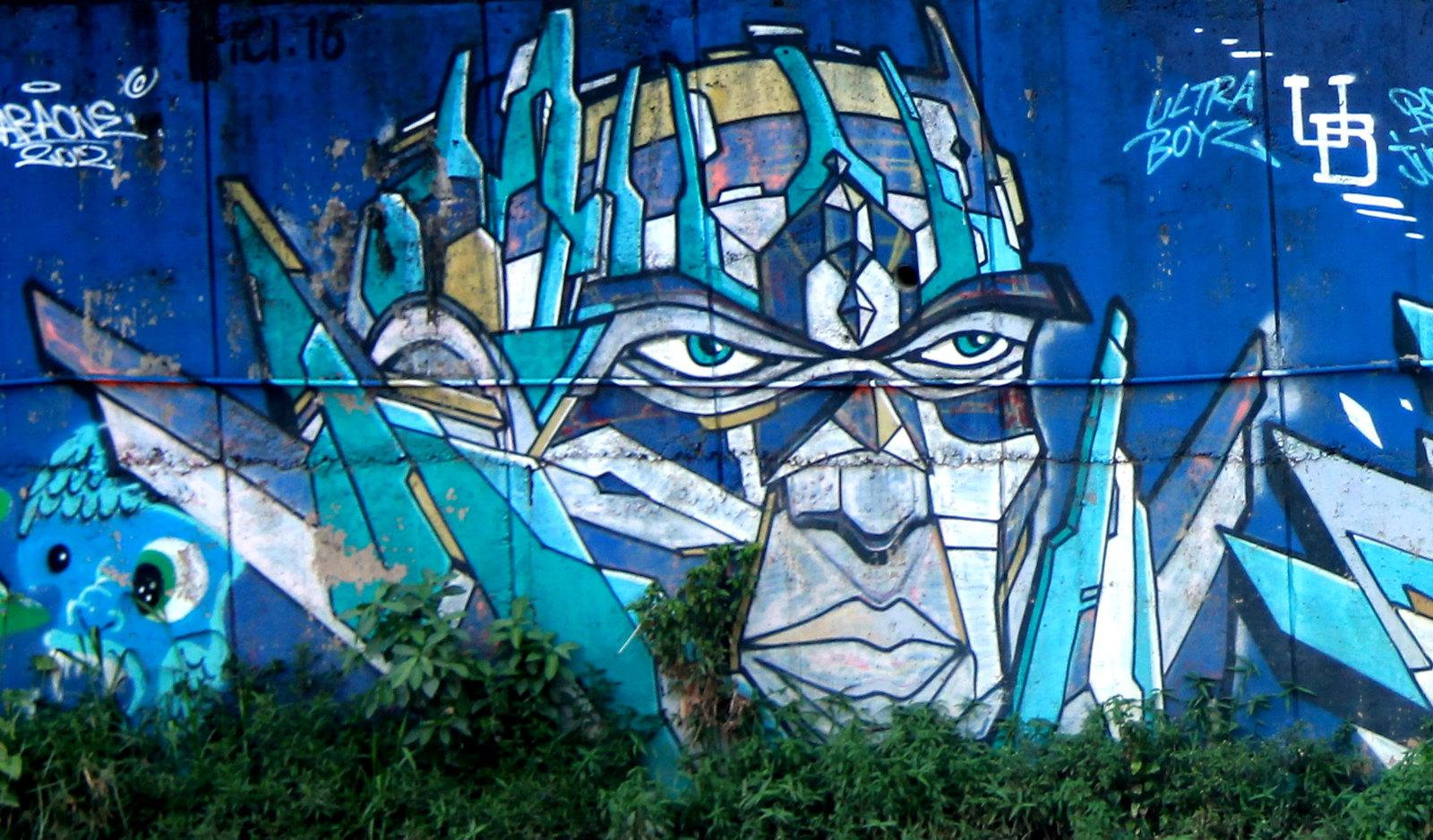 Street art can be seen in Kuala Lumpur
