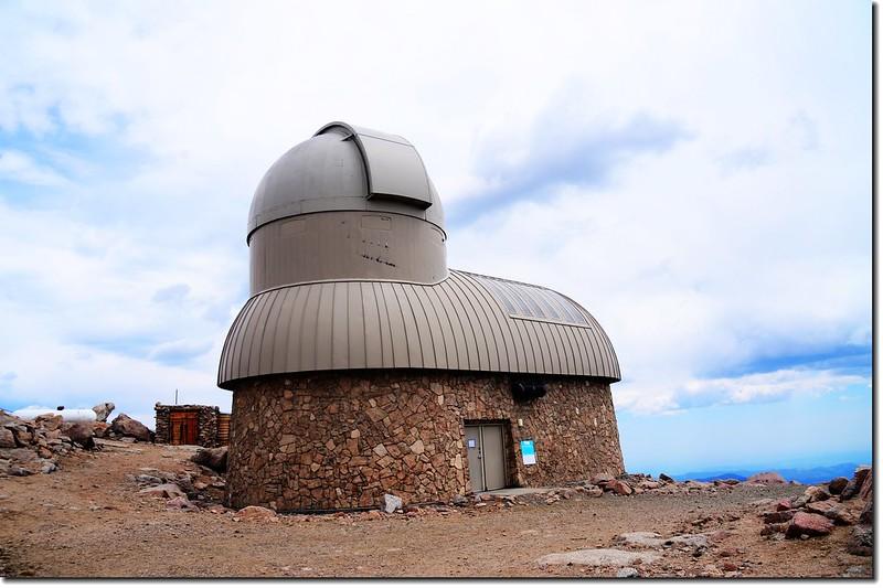 Meyr Womble observatory(Elev. 14125 ft.) 2