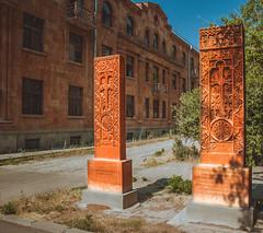 Армения. Хачкары- армянские архитектурные памятники с резным изображением креста.