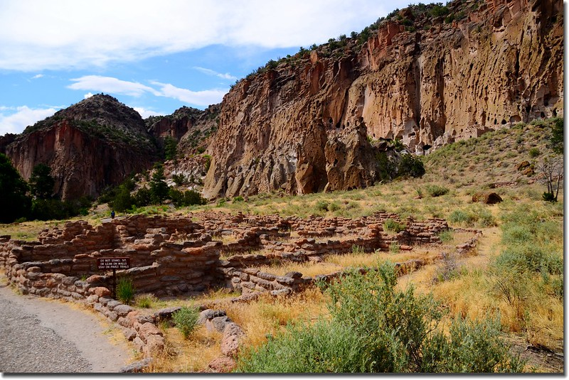 Historic Pueblo dwellings in Bandelier National Monument 2