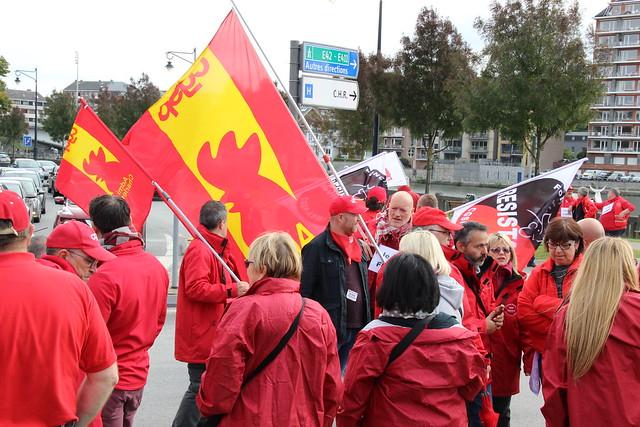 Journée d'action Services publics: environ 2.500 manifestants ont défilé dans le calme à Namur