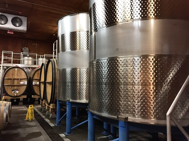 Grgich Hills wine tanks