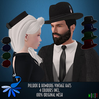 ZcZ Pillbox and Homburg Hats
