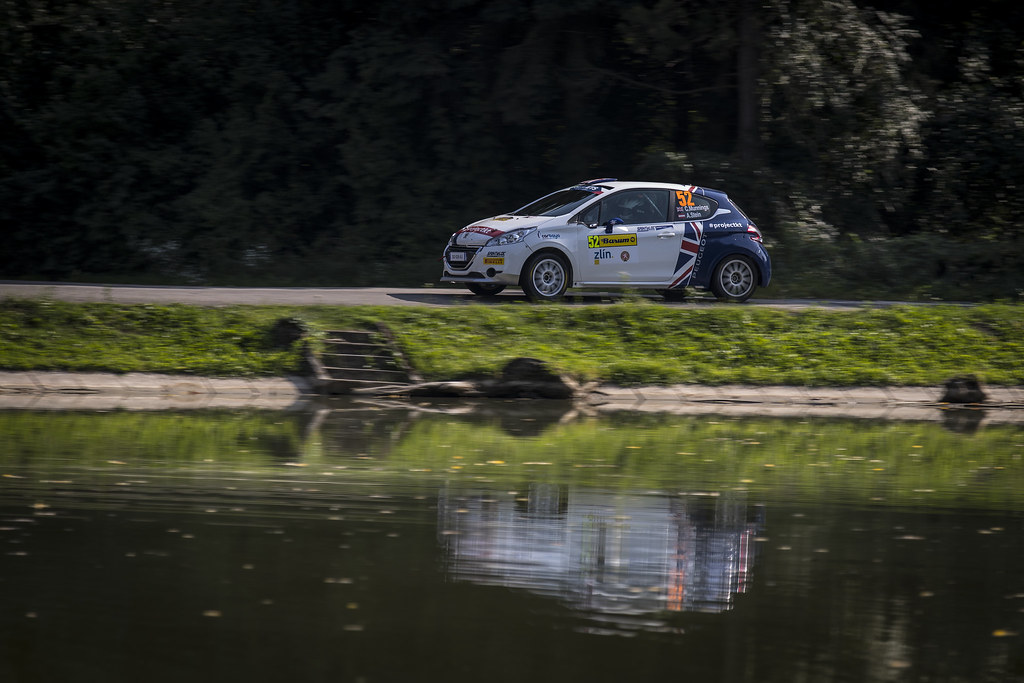 52 MUNNINGS Catie (GBR) STEIN Anne Katharina (AUT) Peugeot 208 R2 action during the 2017 European Rally Championship ERC Barum rally,  from August 25 to 27, at Zlin, Czech Republic - Photo Gregory Lenormand / DPPI