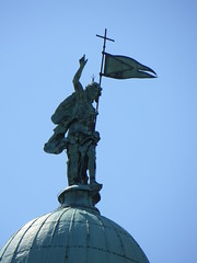 Statue on a church in Venice