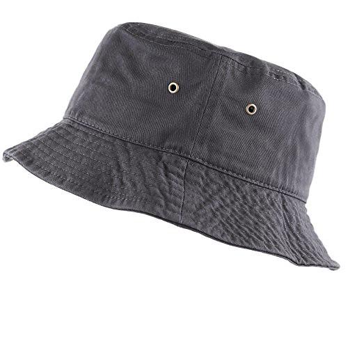c300c907961 ... The Hat Depot 300N Unisex 100% Cotton Packable Summer Travel Bucket Hat  (L