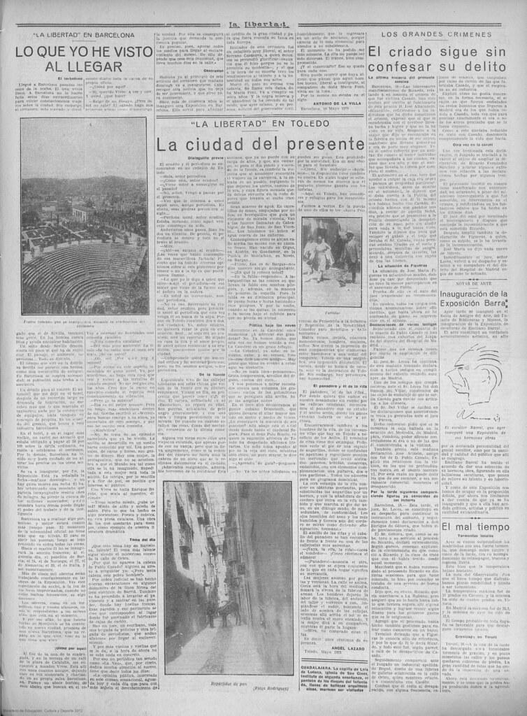 Periódico La Libertad, de 18 de mayo de 1929, nº 2860