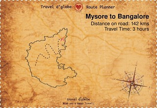 Map from Mysore to Bangalore