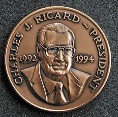 TAMS President medal Charles J Ricard