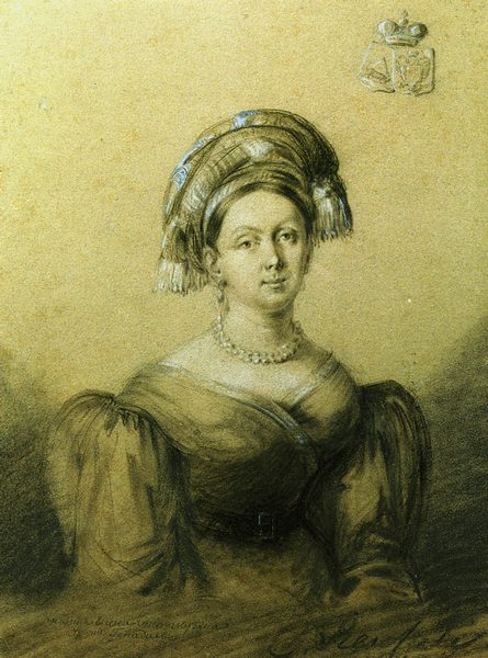 Рейхель Портрет княгини Елены Кантакузен. 1812