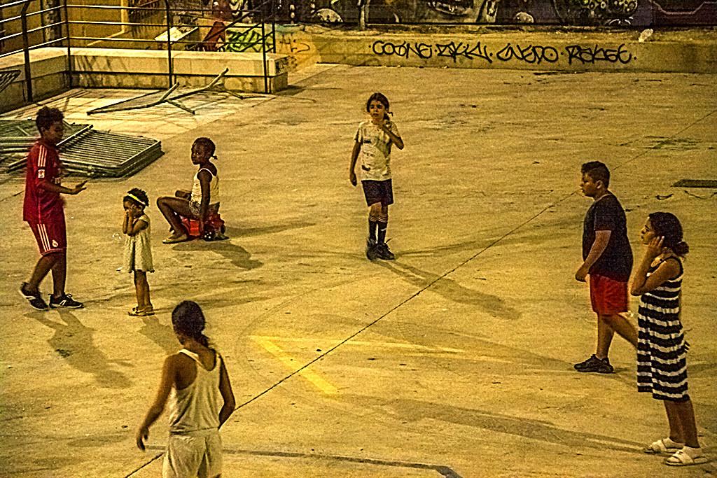Kids in Le Panier playground--Marseille