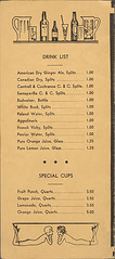 Menu, Club - Cotton Club, Lenox Ave. and 142 St., New York, NY, 1925 - Back Cover