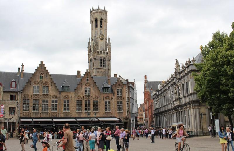 Main square in Brugge, Belgium