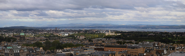 Firth of Forth to the East with sun on Fettes College