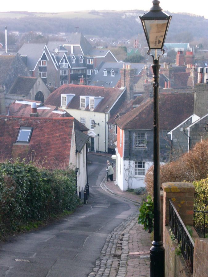 View back into Lewes