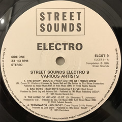 V.A.:STREETSOUNDS ELECTRO 9(LABEL SIDE-A)
