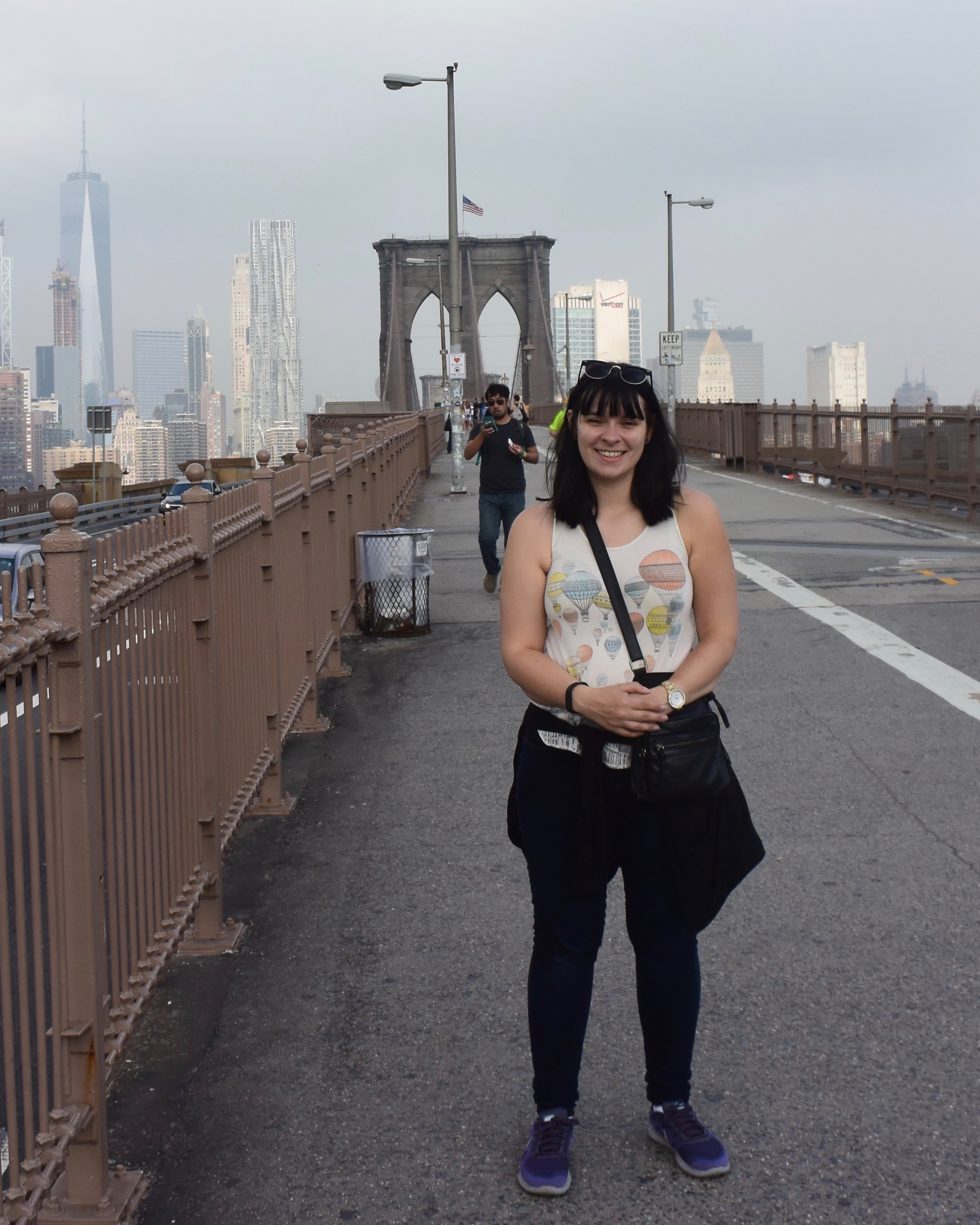 New York - diane on brooklyn bridge