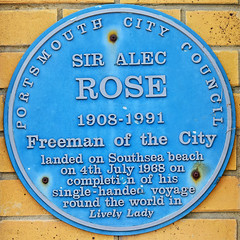 Photo of Alec Rose blue plaque