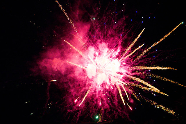 Celebration with colorful fireworks (Feuerwerk)